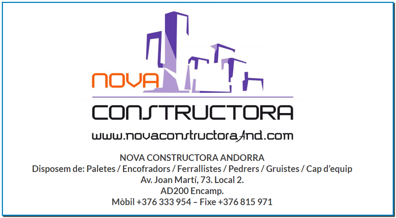 Nova Constructora és el proveïdor de personal subcontractat per a les empreses Constructores de més prestigi i reconeixement del Principat d'Andorra